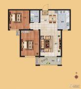 香榭丽都2室2厅1卫95平方米户型图