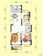 苏通国际新城2室2厅1卫93--98平方米户型图