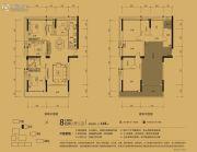 城市东岸4室2厅2卫145平方米户型图