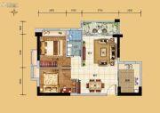 科恒岭南水岸2室2厅1卫69平方米户型图