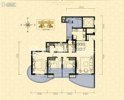龙湖世纪峰景3室2厅2卫133平方米户型图