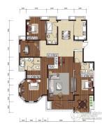 影人四季花园4室2厅3卫270平方米户型图