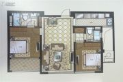 苏州湾壹号2室2厅2卫98平方米户型图