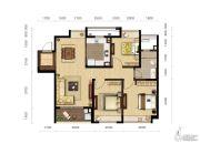 龙洲伊都3室2厅1卫114平方米户型图