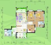 慢哉3室2厅2卫116平方米户型图