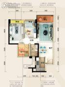 碧桂园・半岛1号3室2厅1卫78平方米户型图