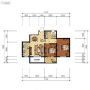 步阳江南甲第2室2厅1卫73平方米户型图