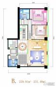 天安国汇2室2厅2卫229--231平方米户型图