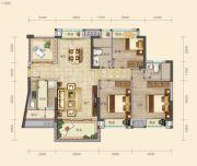 南山壹号3室2厅2卫114--116平方米户型图