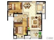 苏宁天御广场2室2厅2卫85平方米户型图