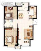 意境兰庭2室2厅1卫94平方米户型图