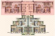保利林语2室2厅1卫88平方米户型图