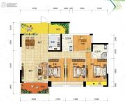冠亚・御龙湾4室2厅2卫142平方米户型图