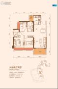 TCL康城四季3室2厅2卫95--96平方米户型图