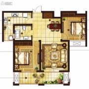 吴中豪景华庭2室2厅2卫103平方米户型图