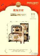 碧桂园东海岸2室2厅1卫76--80平方米户型图