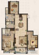 九洲新世界3室2厅2卫131平方米户型图