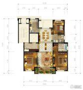 和成七星大观3室2厅2卫126平方米户型图