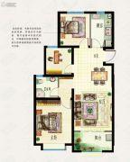 海信东山郡2室2厅1卫90平方米户型图