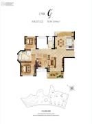 惠天然梅岭国际3室2厅2卫141平方米户型图