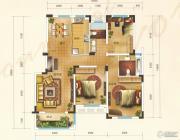 汇金原香3室1厅2卫124--126平方米户型图