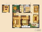 高成天鹅湖3室2厅1卫98平方米户型图