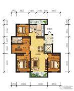 冠城国际4室2厅2卫152平方米户型图