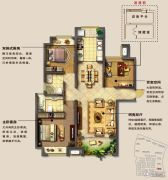 光明澜山3室2厅2卫118平方米户型图