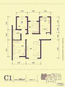 中海公园城3室2厅2卫0平方米户型图