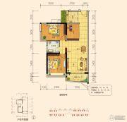东盟华府3室2厅1卫85平方米户型图