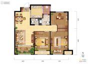 融创天朗珑府3室2厅2卫93平方米户型图
