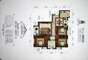 香槟小镇3室2厅1卫112平方米户型图