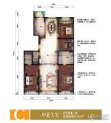 泽润・世家公馆4室2厅3卫0平方米户型图