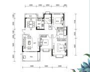 多伦公园里3室2厅2卫139平方米户型图