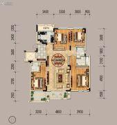 绿地山鼎庄园二期4室2厅3卫157平方米户型图