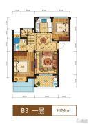 滨江西溪之星0室0厅0卫74平方米户型图