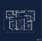 中建・国熙台3室2厅2卫118平方米户型图