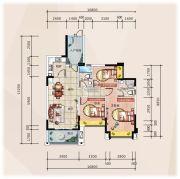 �R豪领逸3室2厅2卫109平方米户型图