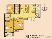瑞隆城三期麒麟山3室2厅2卫130平方米户型图
