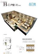 通用晶城1室0厅1卫42平方米户型图
