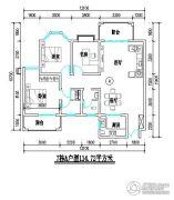 君尚一品小区二期2室2厅2卫114平方米户型图