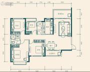 恒大世纪城4室2厅2卫113平方米户型图