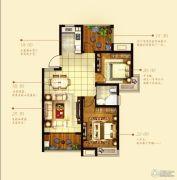 中铁诺德誉园2室2厅1卫88平方米户型图