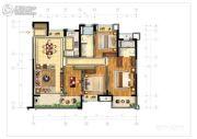 绿地中央公园3室1厅2卫139平方米户型图