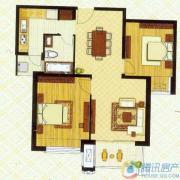 东外滩1号2室2厅1卫94平方米户型图