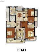 方远天韵水岸4室2厅2卫143平方米户型图