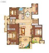 月桥花院3室2厅2卫128平方米户型图