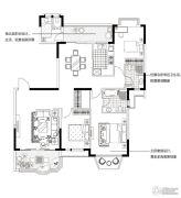 合生国际城4室2厅3卫155平方米户型图