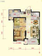 保利紫荆公馆2室2厅1卫78平方米户型图
