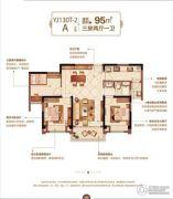 泰州碧桂园・林湖郡 高层3室1厅1卫95平方米户型图